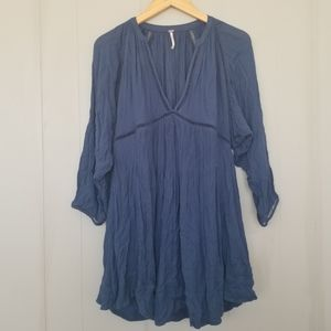 Free people blue tunic top / dress xs